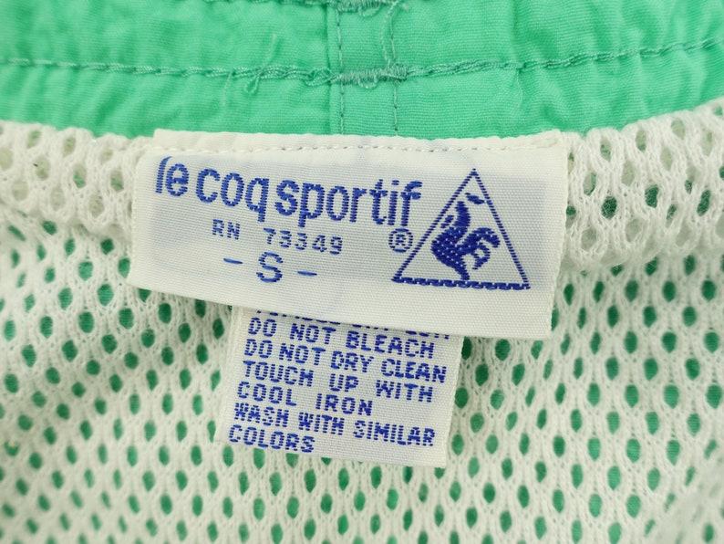Vintage Le Coq Sportif Mesh Lined Swim Trunks Size Small Z10
