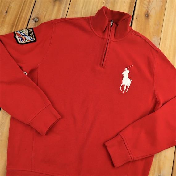 Polo Ralph Lauren Ski Patch Quarter Zip Sweater Si