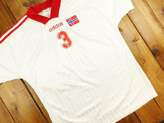 Vintage Norway Adidas Soccer Jersey Size Large D14