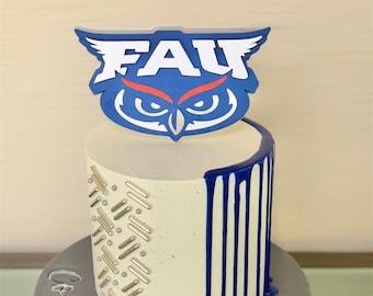 Florida Atlantic University Cake Topper   Graduation cake topper   Graduation decoration    Class of 2021 decoration