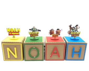 Toy Story Birthday, Toy story favor box, Decorative letters