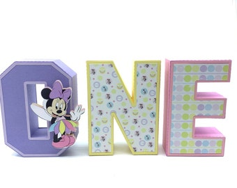 Minnie Mouse Party decorations  Minnie 1st birthday   One letters 3D