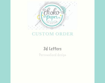 Custom order   letters 3D   Customized letters   Party Decoration