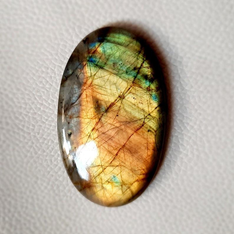 60\u00d736\u00d77 Very Gorgeous Rainbow Multi Fire Labradorite Gemstone Oval Shape 151.00 Ct Hand Polish Best For Loose Cabochon Wire Wrap jewellery