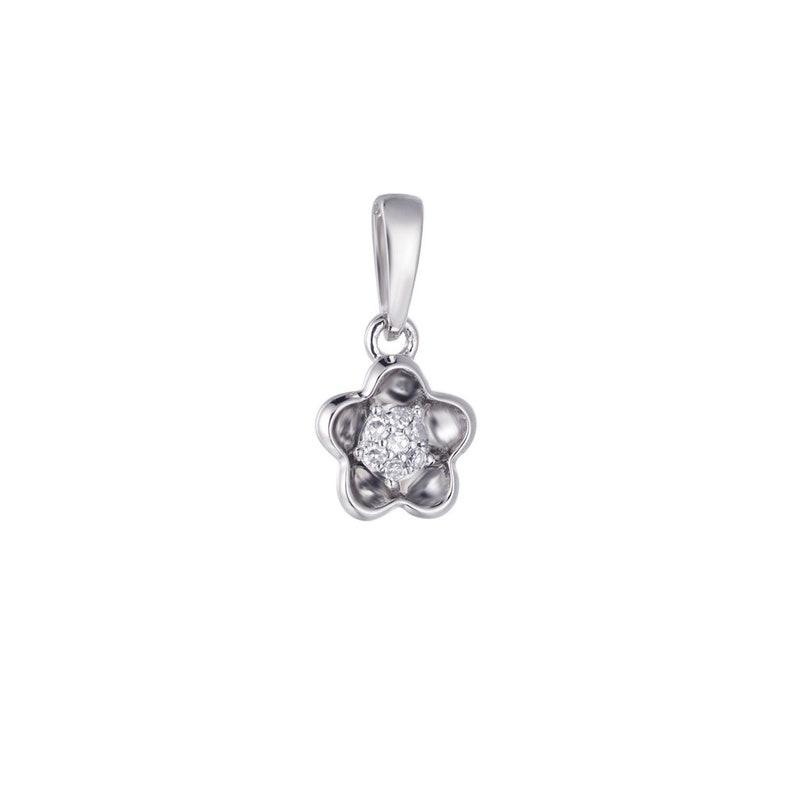 Diamond Pendant  Flower Pendant  Minimalist Diamond Pendant  Dainty Diamond Pendant  Cluster Pendant  Gift for Her