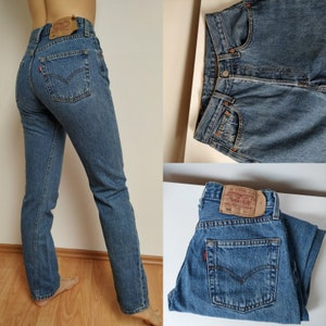 Sz 27 Vintage Rare MT OLIVE Women/'s Jeans W27 L30 High Waisted 70/'s Dark Blue Denim Jeans Embroidered Pockets For Women/'s