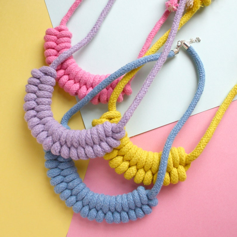 Craft Kit for Adults Macrame Necklace Kit DIY Rope Necklace Kit