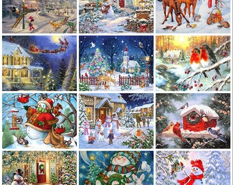 Rhinestone Painting Kit FATHER SNOW Christmas Bling Wall Art 20x25 canvas kit0150 Diamond Dotz Diamond Facet Art