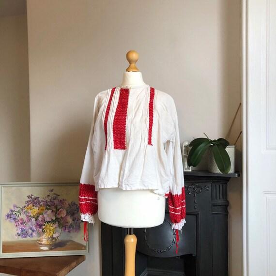 Bavarian vintage embroidered blouse jacket