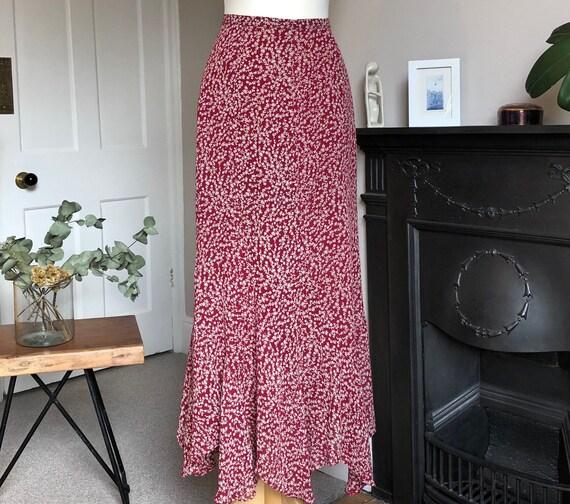 Laura Ashley floral midi skirt