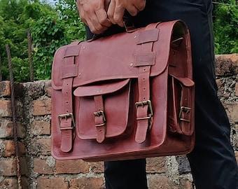 Handmade Laptop Messenger Bag for Men and Women Briefcase Laptop Bag Cross Body Shoulder Bag Backpack Bag Laptop Portfolio Messenger Bag