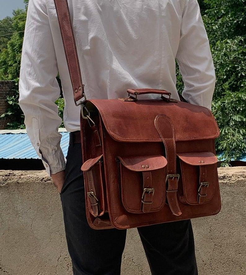 Personalized Laptop Messenger Bag for Men and Women Briefcase Laptop Bag Cross Body Shoulder Bag Backpack Bag Laptop Portfolio Messenger Bag