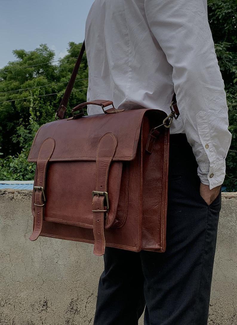 18 Convertible Laptop Messenger Bag for Men Women Briefcase Laptop Bag Cross Body Shoulder Bag Backpack Bag Laptop Portfolio Messenger Bag
