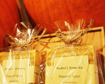 Pumpkin spice organic soap gift set