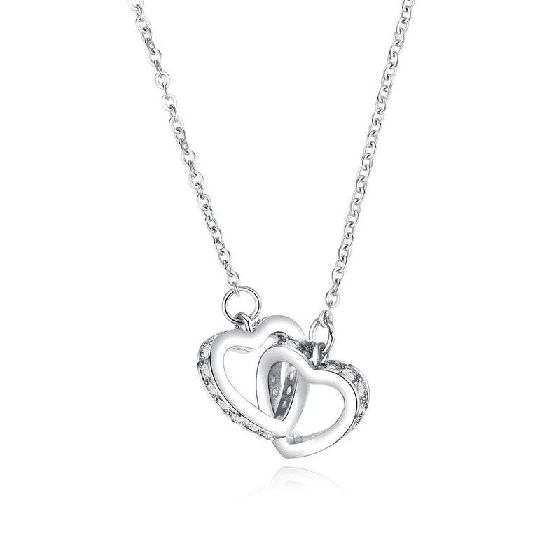 Heart Zircon Pendant Necklace,Gold/&silver plated,Necklace for girls,Gift Necklace,gift for her,Fashion Necklace,Minimalist Trendy Necklace