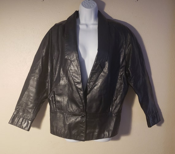 Wilsons 80's Black Leather Jacket