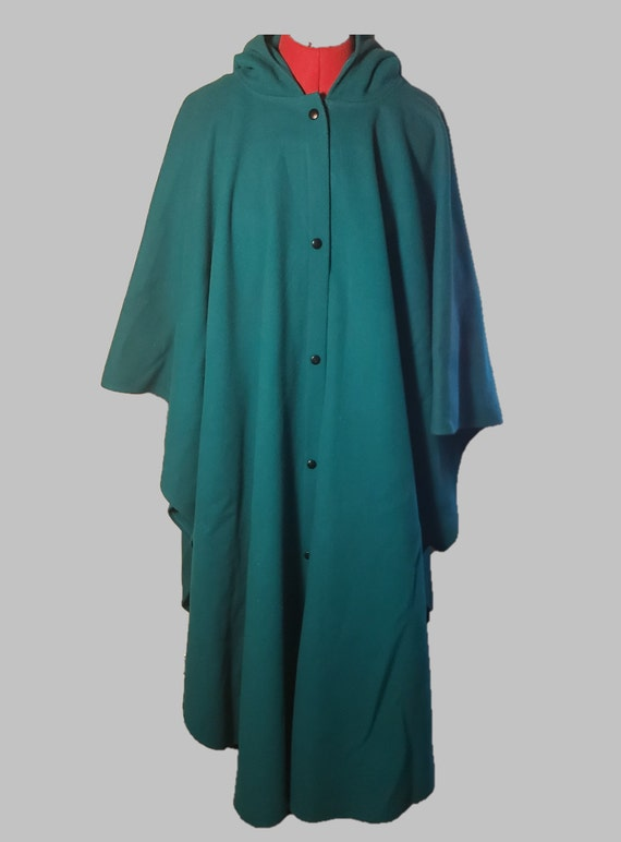 Coloratura Teal Wool Cape