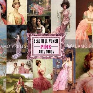 Pink ZodiacMixed Media and Paper CollageVintage EphemeraAstrologyZodiacRetroAcrylic8x10