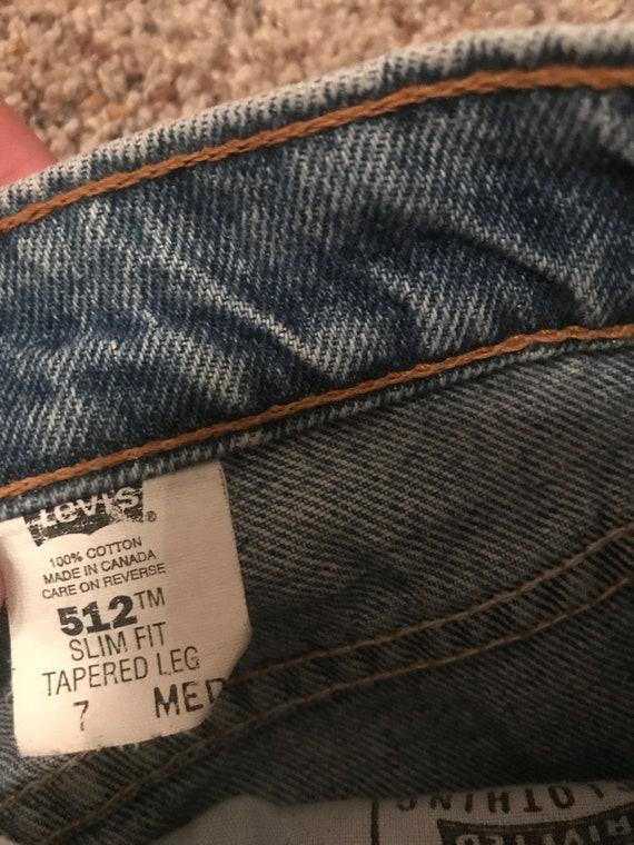 Vintage Levi's 512 light wash mom jeans - image 7