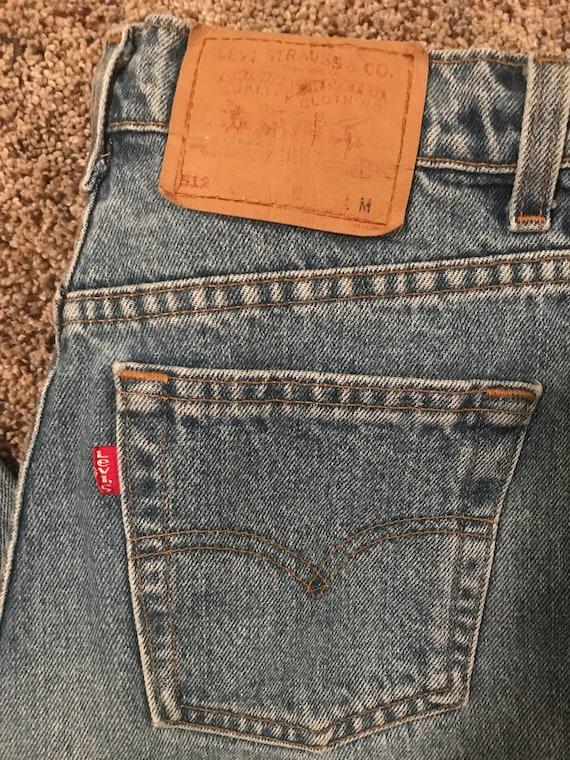 Vintage Levi's 512 light wash mom jeans - image 2