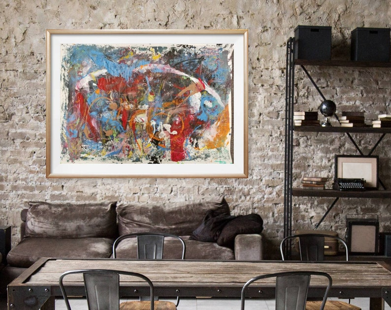 This limited edition 24x36 print titled Celebration by artist Brenda Singletary is an unframed abstract #1 of 30 edition size.