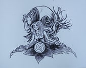 Mother Earth - Linocut Print