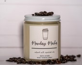 Monday Mocha Single Wick Candle | Coffee Scented Candle | Handmade Soy Candle | Black Owned Candles | Gifts Under 30 | Jar Candle