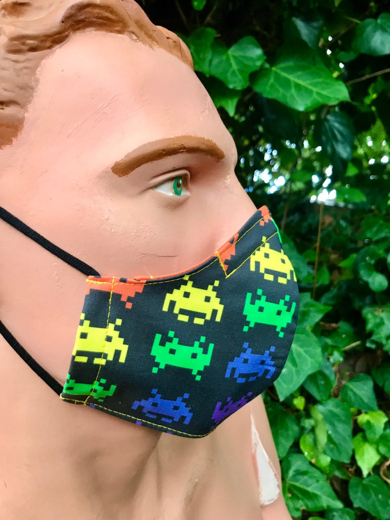 Space Invaders Face Mask