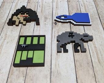 M.U.L.E Pixel Art Graphics Magnet Set