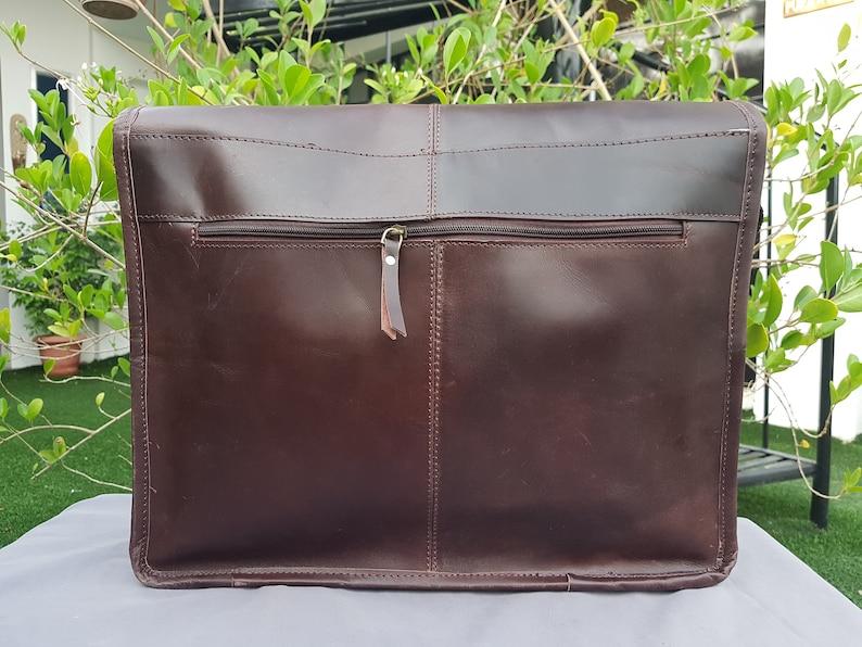 Leather crossbody satchel Handmade Leather Messenger Bag Personalised Laptop Bag Men\u2019s Briefcase Bag