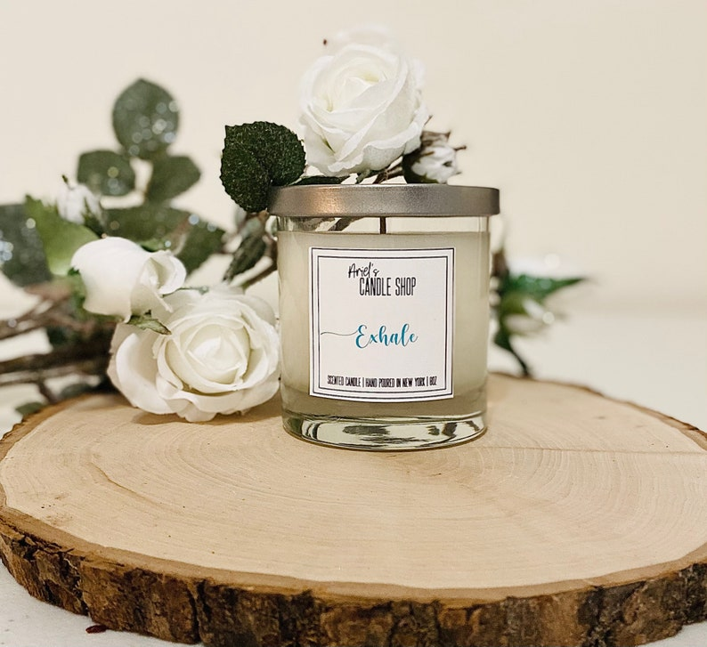 Handmade Candles Exhale 8oz Scented Candle Inspirational Candles