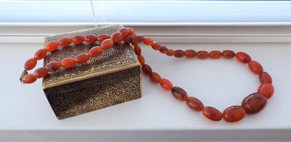 Vintage 1940s Faux Bakelite Necklace, Early Plasti