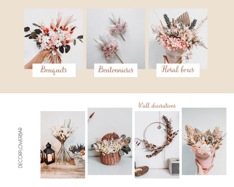 Handmade Hair Comb Cute Rustic Floral Woman Gift Beatiful Hair Combs Good Vibes Eco Friendly Hair Accessories for Boho Festival Meadow
