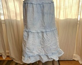 Distressed Bleached Cottagecore Denim Skirt Boho Chic Spring Fashion Goth Grunge Aesthetic 90s Post Apocalyptic Streetwear Popular Right Now