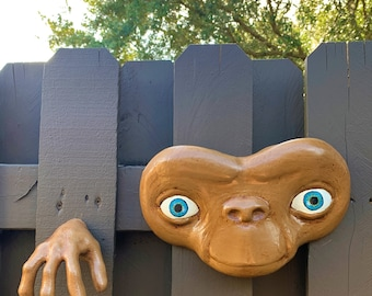 ET Replica Face and Hand Wall Sculpture
