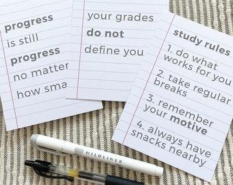 Student Pack of 3 Motivational Student Postcard Desk Print A6