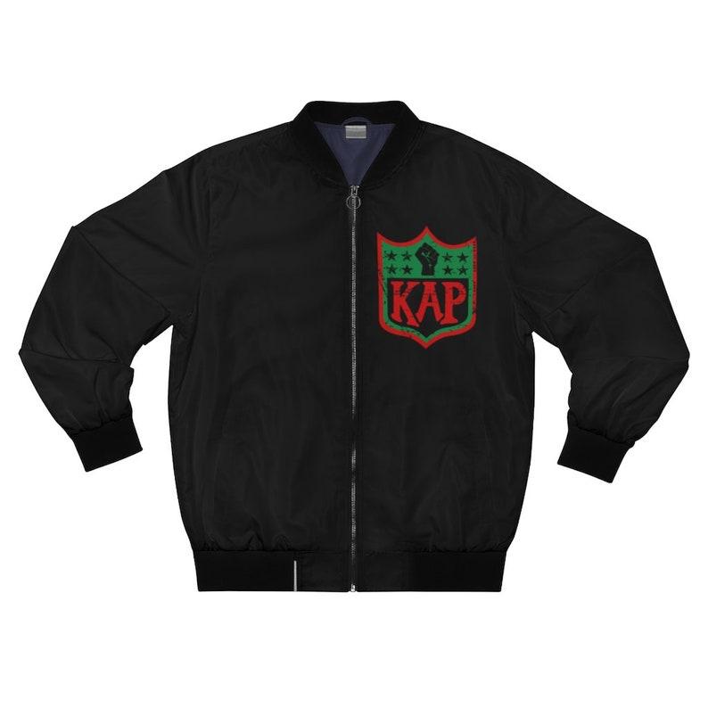 KAP Logo take a knee Inspired AOP Bomber Jacket