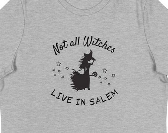 Not All Witches Live in Salem, Halloween, Witch, Women's, Relaxed Fit T-Shirt