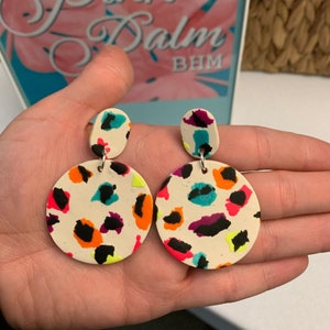 Lisa Frank Inspired Dancing Dolphins Earrings