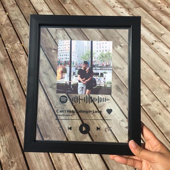 """Targa musicale in vetro personalizzata - Spotify Music Glass Sheet - Targa musicale personalizzabile - Targa musicale personalizzata 8x10"""""""
