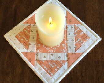Quilted Fall Decore mug rug or candle mat.