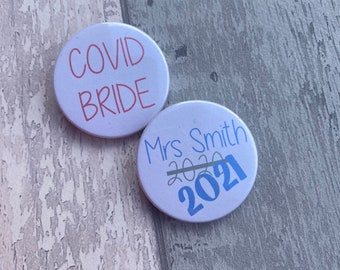 Game Over 38 mm Button Badge Pin Back Married Marriage Wedding Bride Groom Gift