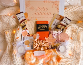 AUTUMN Letterbox Gift | Self-Care Package | Gifts For Her | Autumn Spa Hug In A Box | Autumn Hot Chocolate Gift Box | Pamper Spa Box