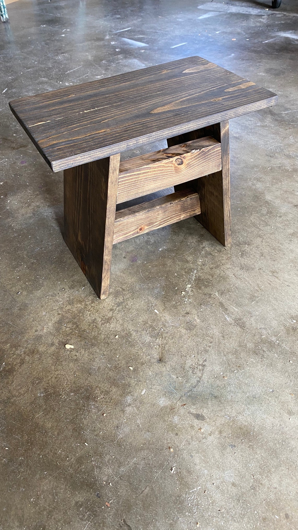 Custom rustic wood Stool