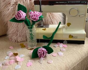 Bespoke Fabric Valentines Roses