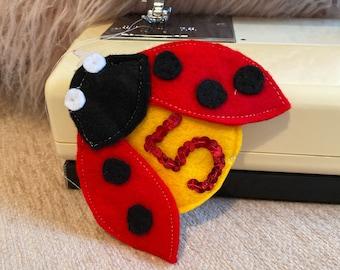 Bespoke Ladybird Birthday Badge