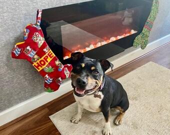 """Dog """"bone"""" Christmas stocking"""