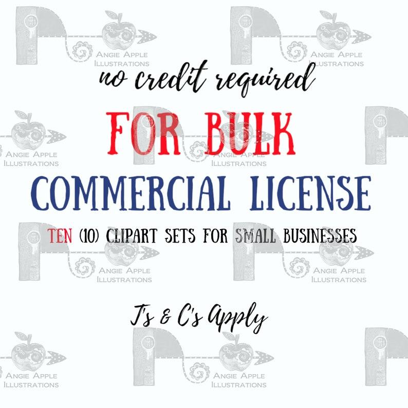 BULK COMMERCIAL LICENSE for 10 clipart sets