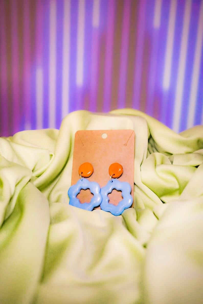 Flower Clay Earrings