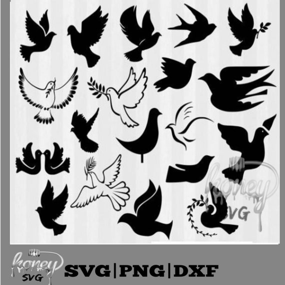 Doves Silhouette Clip Art Doves Svg Dove Silhouette Dove Etsy Free vector silhouettes for commercial use in.svg and.png format with a transparent background. doves silhouette clip art doves svg dove silhouette dove decorations svg and png files silhouette cameo dove svg files svg bundle dxf